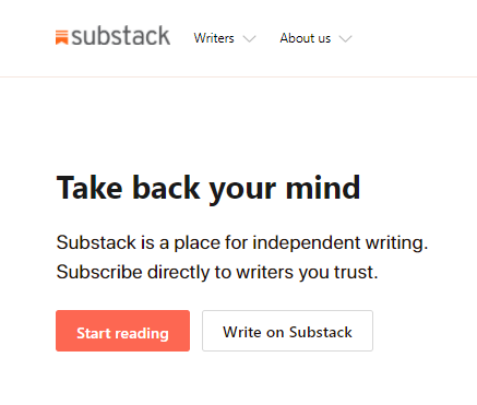 writing online with Substack